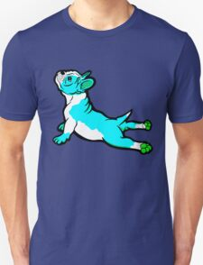 Boston Bull Terrier Puppy Blue Unisex T-Shirt