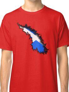 Scottish in Me Saltire Rip Tear  Classic T-Shirt