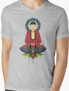 Electric Buddha Mens V-Neck T-Shirt