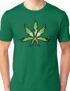 Cannabis Leaf Abstract Green Unisex T-Shirt