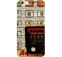 funky geek nerd shortwave radio retro calculator  iPhone Case/Skin