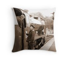 Waiting for the Road Throw Pillow