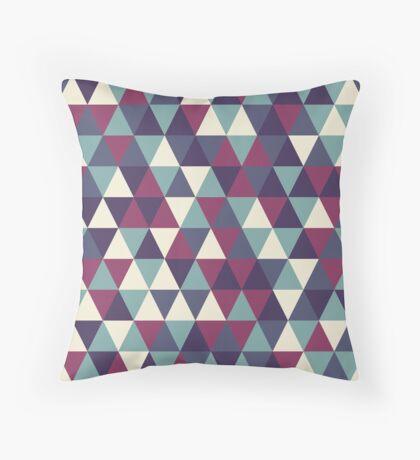 Retro geometric pattern in cold gamma Throw Pillow