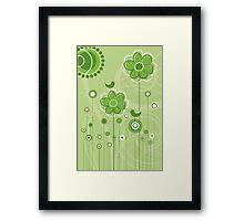 Floral Decor Colorful Vector Illustration Framed Print
