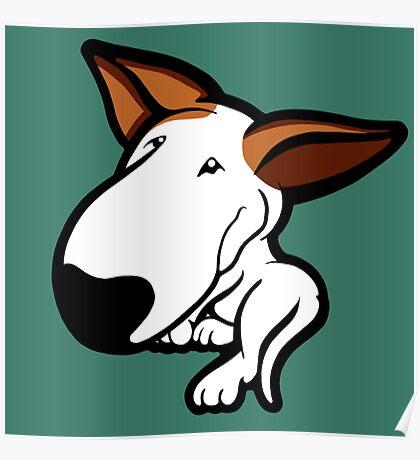 Ginger Ears English Bull Terrier Puppy Poster
