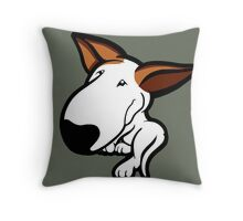 Ginger Ears English Bull Terrier Puppy Throw Pillow