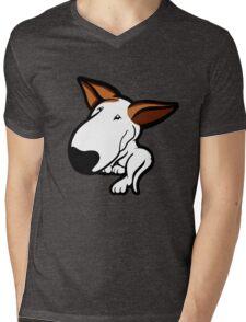 Ginger Ears English Bull Terrier Puppy Mens V-Neck T-Shirt