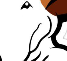 Ginger Ears English Bull Terrier Puppy Sticker