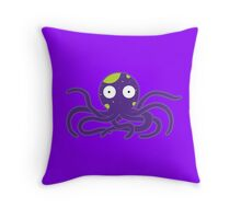 Nuclear Octopus Throw Pillow
