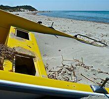 Beachcombing At Kum Limani by Ron Marton