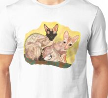 Tiger and George - the Cornish Rex Cats Unisex T-Shirt