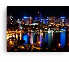 perth city by night Canvas Print