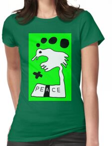 The Troubled Peace Dove Womens Fitted T-Shirt