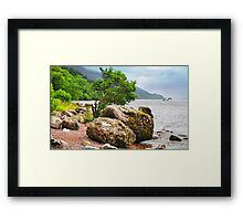 On the shores of Loch Ness - AGAIN Framed Print
