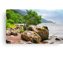 On the shores of Loch Ness - AGAIN Canvas Print