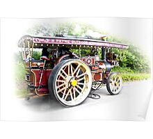 Steam Traction Engine #3 Poster