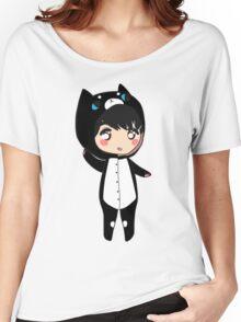 Chibi Osric - Black Cat Kigurumi Women's Relaxed Fit T-Shirt