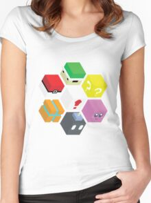 Nintendo Cubed Women's Fitted Scoop T-Shirt