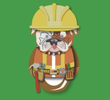 Workobeez CONSTRUCTION BULL DOG! Kids Tee