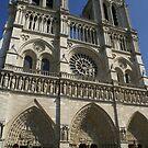 Notre Dame de Paris spring facade by BronReid
