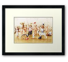From life of toys. Boxing Framed Print