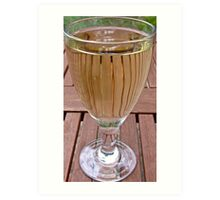 Reflections in a wine glass Art Print