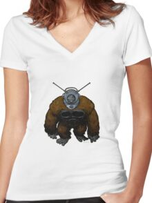 Ro-Man Women's Fitted V-Neck T-Shirt