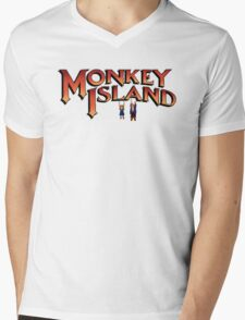 Monkey Island in Chains Mens V-Neck T-Shirt