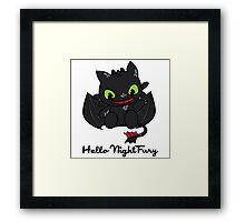 Hello Night Fury Framed Print