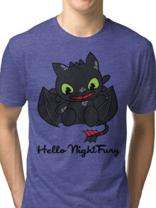 Hello Night Fury Tri-blend T-Shirt