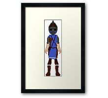 Skyrim 8-bit Falkreath Guard Framed Print