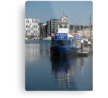 The Orwell Lady, Ipswich Waterfront Metal Print