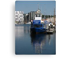 The Orwell Lady, Ipswich Waterfront Canvas Print