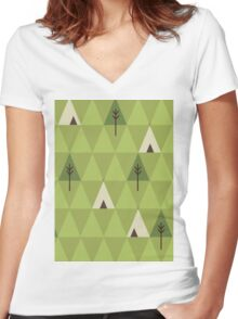 Teepee Women's Fitted V-Neck T-Shirt