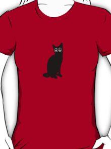 Peace Cat T Shirt T-Shirt