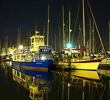 The Orwell Lady At Night, Ipswich by wiggyofipswich