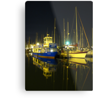 The Orwell Lady At Night, Ipswich Metal Print