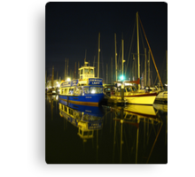 The Orwell Lady At Night, Ipswich Canvas Print