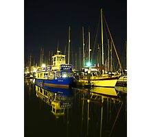 The Orwell Lady At Night, Ipswich Photographic Print