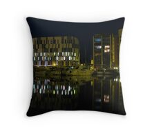 The University Campus, Ipswich at Night Throw Pillow