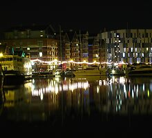 Neptune Quay, Ipswich at Night by wiggyofipswich