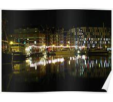Neptune Quay, Ipswich at Night Poster
