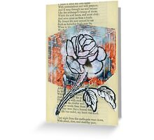 ROSE CUBE Greeting Card