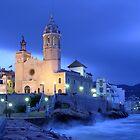 Sitges church  by Josep M Penalver