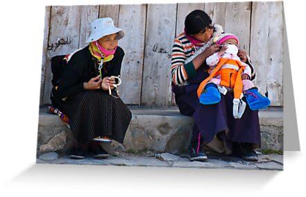 Lhamassery women. A dash of orange modernism by vesa50