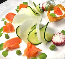Smoked Trout with Friends Tricolore by SmoothBreeze7
