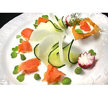 Smoked Trout with Friends Tricolore Photographic Print