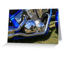 Motorbike reflections  Greeting Card