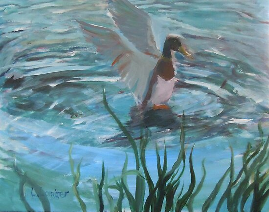 SPLASH  DOWN / or MAKING WAVES by paintnpot