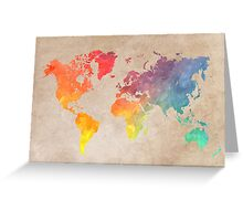 World Map maps Greeting Card